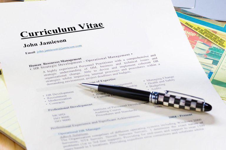 Curriculum Vitae (CV) Format