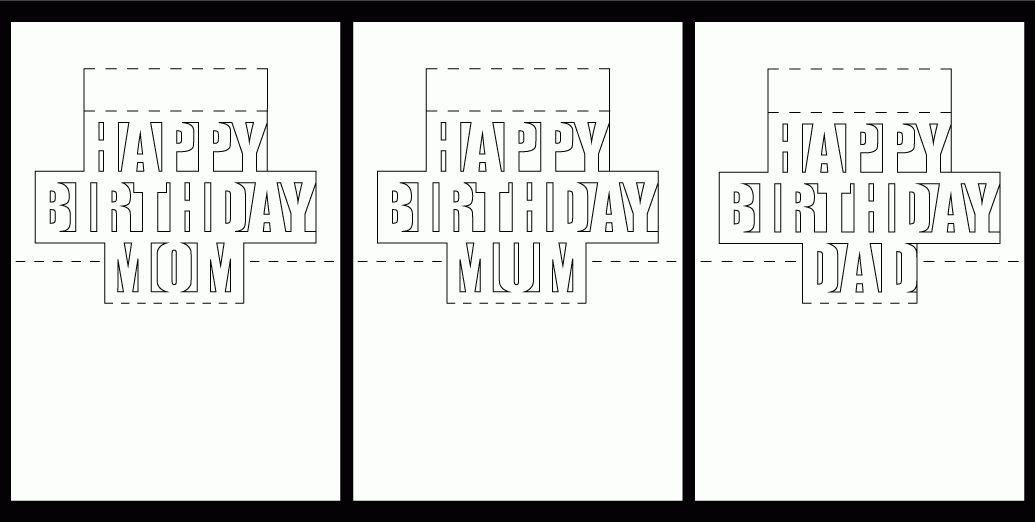 Pop Up Birthday Card Template - lilbibby.Com