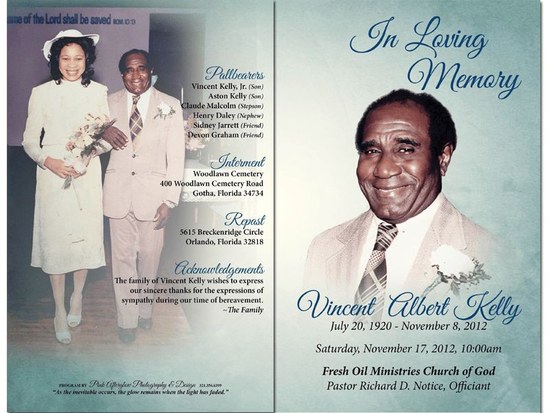 Funeral Templates | Funeral Program Templates | Funeral Card