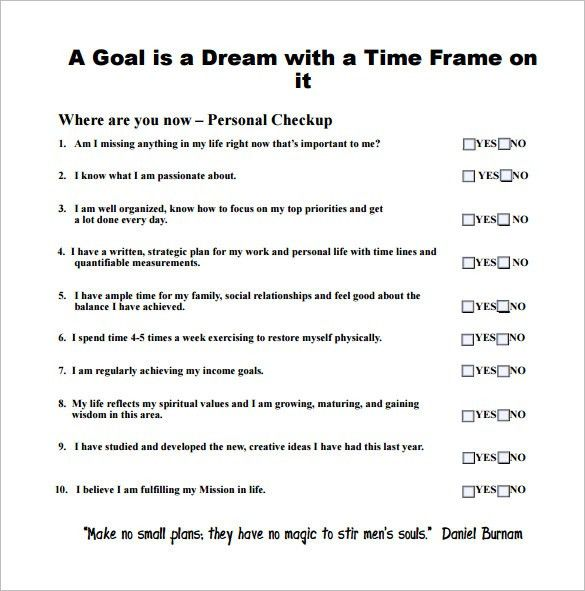 Goal Chart Template – 8+ Free Word, Excel, PDF Format Download ...