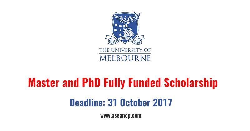 University of Melbourne Master Degree and PhD Scholarship in ...