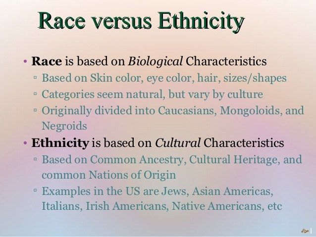 Race & Ethnicity Mini-Lecture
