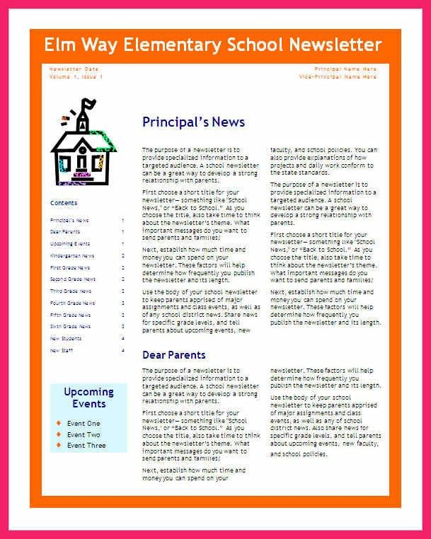school newsletter templates | bio letter format