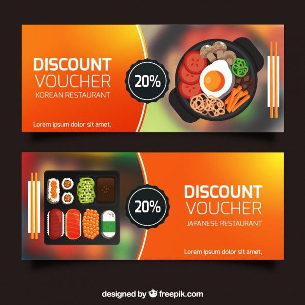 Discount vouchers banners collection Vector | Free Download