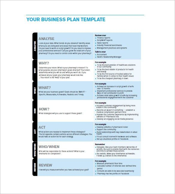 Business Action Plan Template – 6+ Free Word, Excel, PDF Format ...