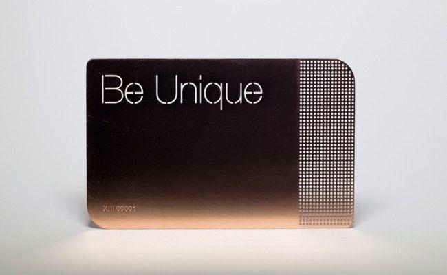 Pure Metal Cards - be unique