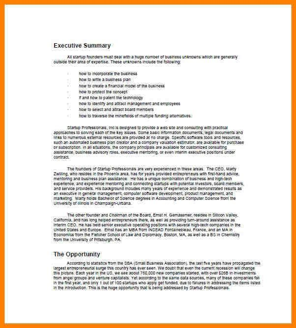 7+ business plan executive summary example | farmer resume