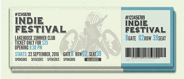 30 Inspiring Event Ticket PSD [Template Design] - DESIGGN