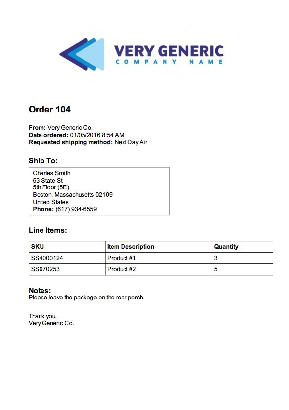 Include a Custom PDF Packing Slip with Each Order - Spark Shipping