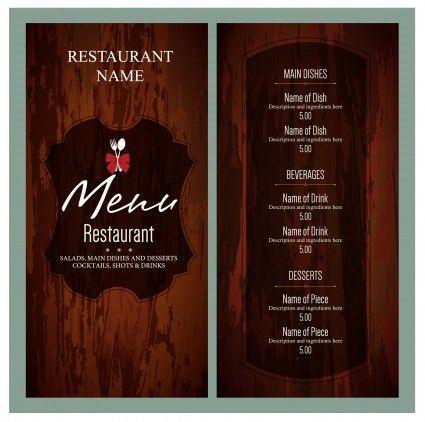 Freebie : Retro Restaurant Food Menu Brochure PSD   free psd   UI ...