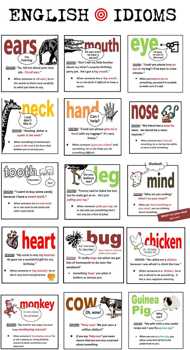 Essay english idioms