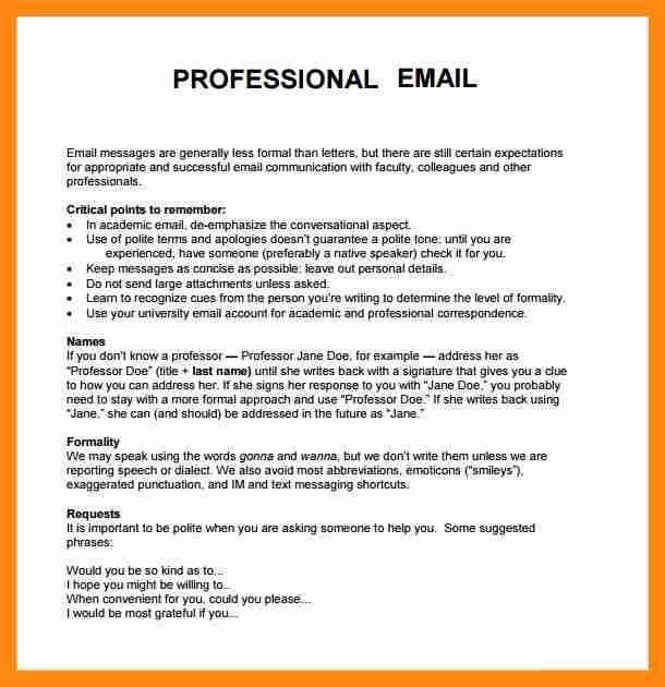 7+ example of a professional email | graphic-resume