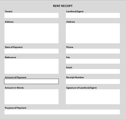 rent receipt template pdf