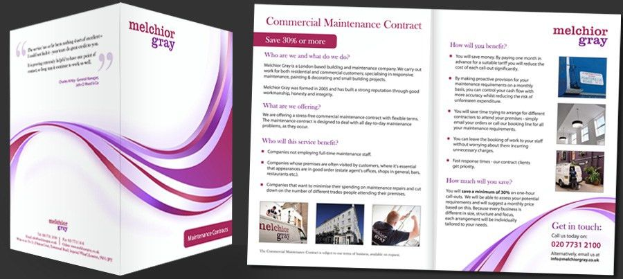 We created this brochure for a property management company to ...