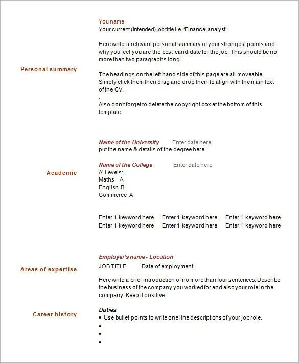 brief resume format resume format. free resume templates 20 best ...