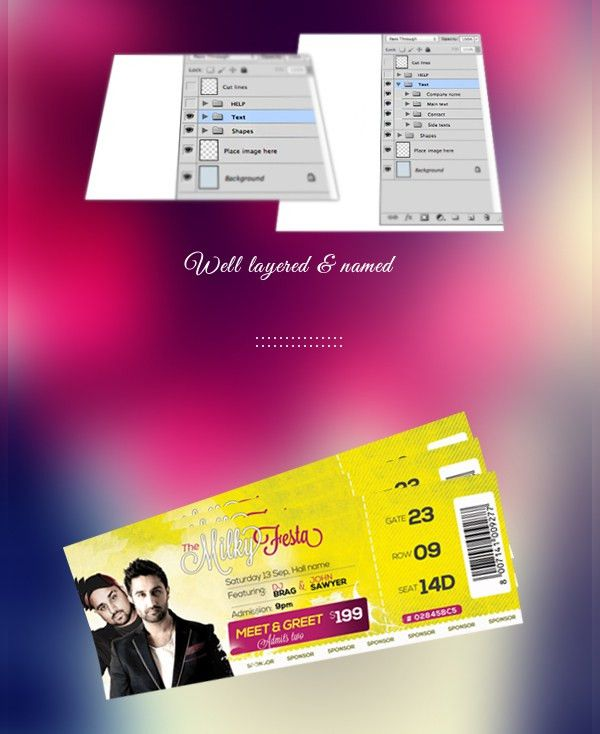 14+ Ticket Template - Free PSD, AI, Vector EPS Format Download ...