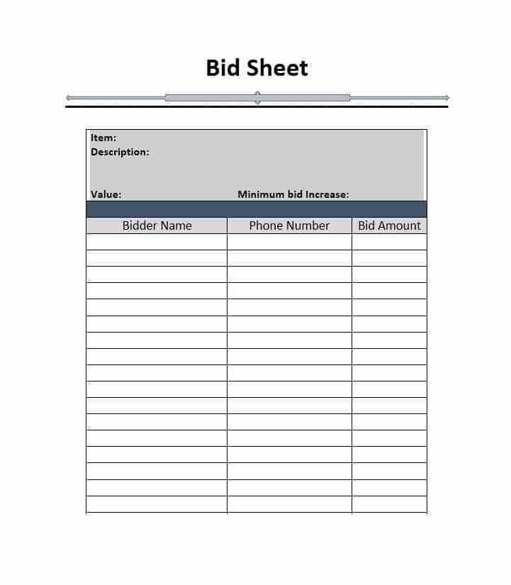 bid sheet - thebridgesummit.co