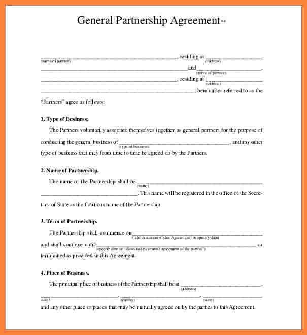 8+ business partner agreement template | Bussines Proposal 2017