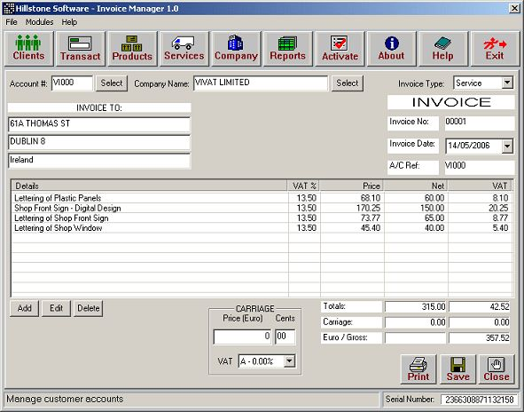 Invoice Free Software Download | Free Invoice Template