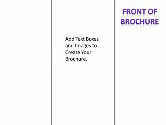 Blank tri-fold Brochure Template Design Free Printable : Helloalive