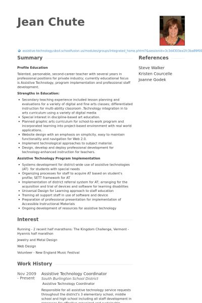 Technology Coordinator Resume samples - VisualCV resume samples ...