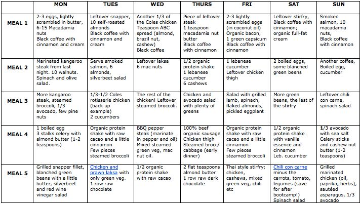 Nutrition and Fat Loss 101, Part 4 - Weekly Eating Plan - Kat Loterzo