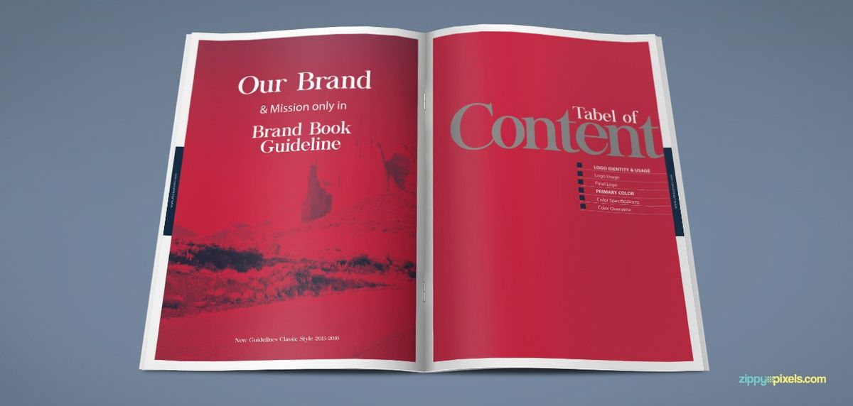 The Harmony – Free Brand Book Template - Creative Specks
