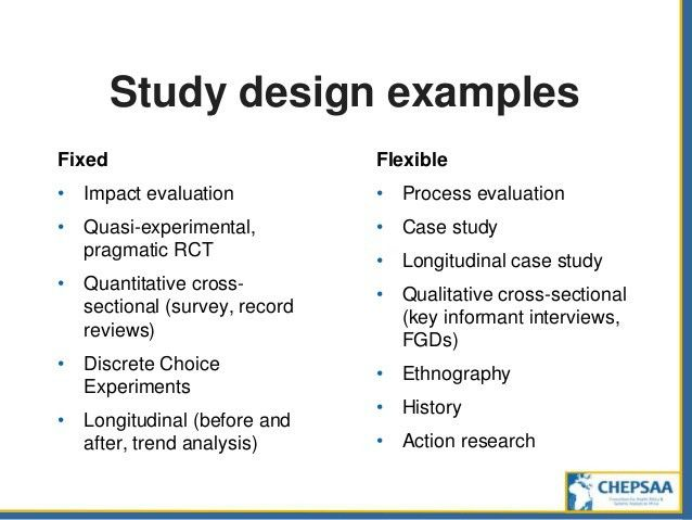 Study design: from questions to projects