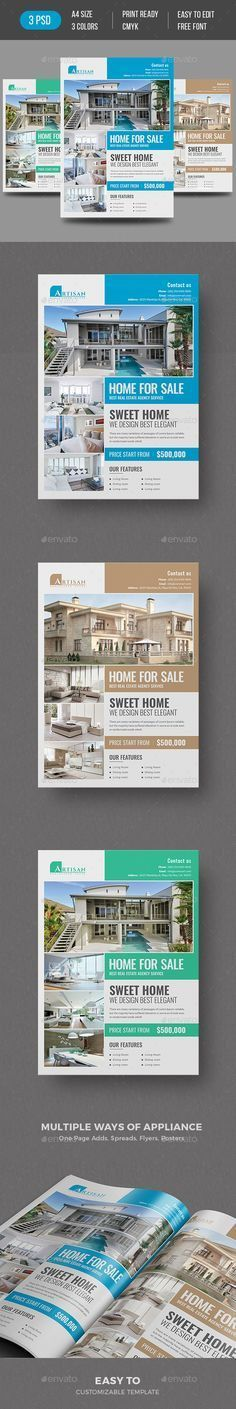 Real Estate Flyer | Real estate flyers, Flyer printing and Print ...