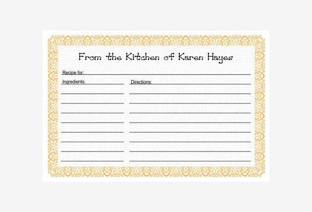 20+ Free Recipe Card, Page & Book Templates | Free & Premium Templates