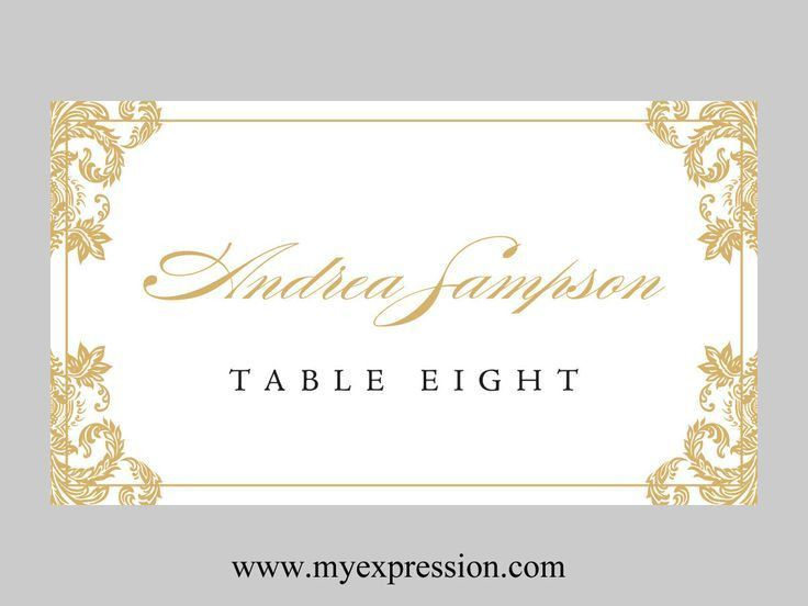 Wedding Card Design : Dazzling Design Wedding Place Cards Template ...