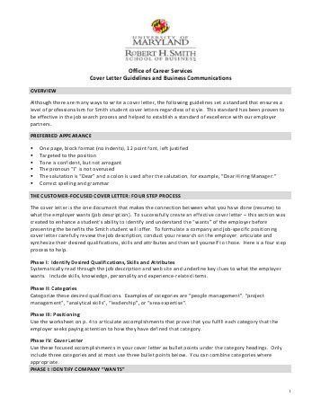 COVER LETTER GUIDELINES (BLOCKED STYLE) - Franciscan ...