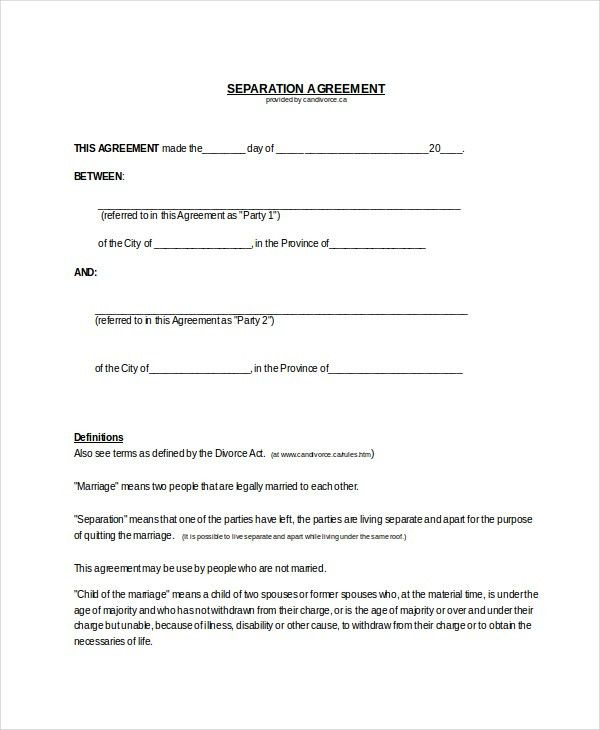 43+ Basic Agreement Forms   Free & Premium Templates