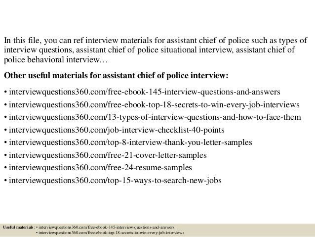 Top 10 assistant chief of police interview questions and answers