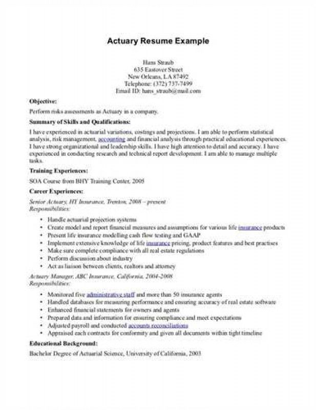 nice actuarial science resume pictures actuarial science