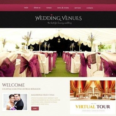 Website Template #44755 Wedding Venues Place Custom Website ...