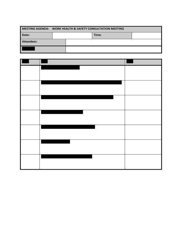 HR Advance | Meeting Agenda Template