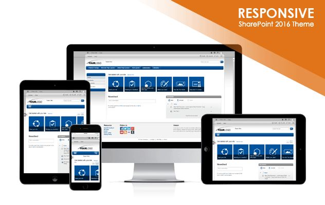 Light Tones 2016 SharePoint 2016 Responsive Theme Package ...