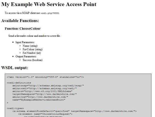 PHP Web Service WSDL Generator / SOAP Server (Document/Literal ...