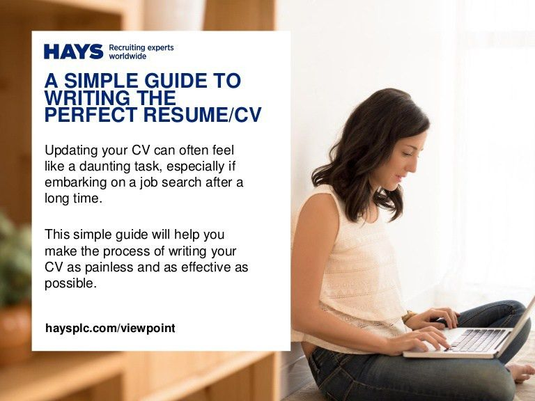 A Simple Guide to Writing the Perfect Resume/CV