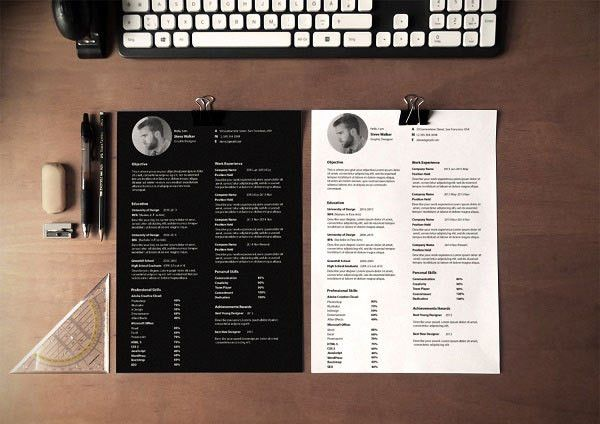 10 Best Free Resume (CV) Design Templates in Ai & Mockup PSD ...