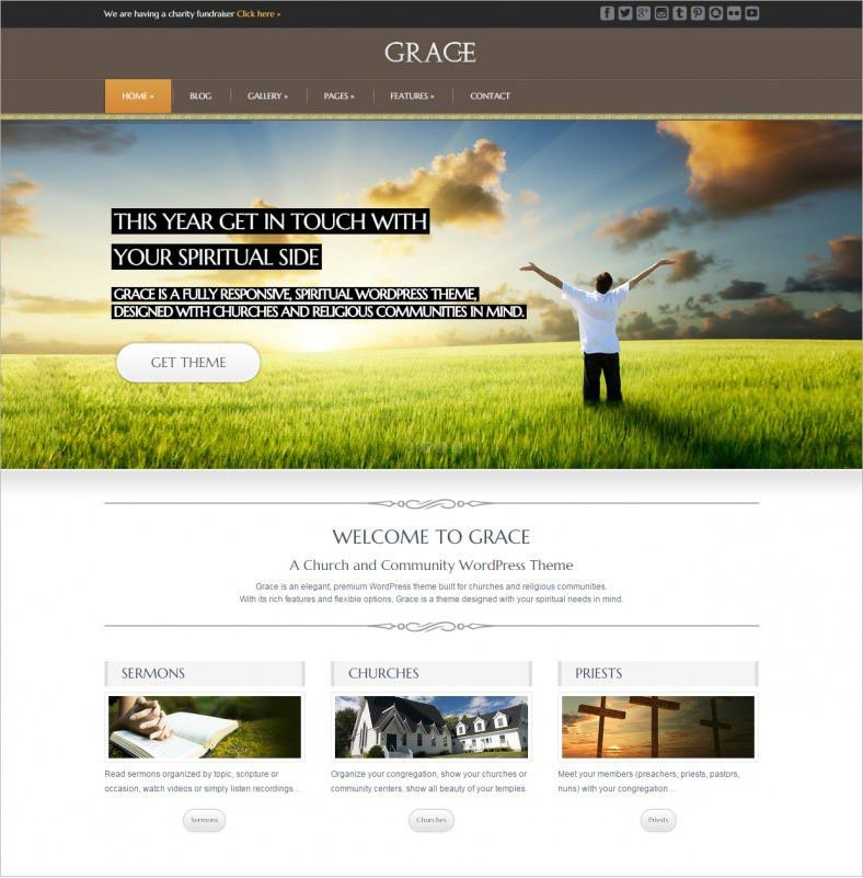18 Best Spiritual Website Templates |Free & Premium Themes | Free ...