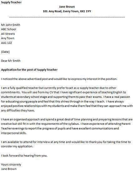 Teacher Cover Letter Sample Uk - Compudocs.us