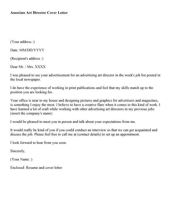 art director cover letter sample art director cover letter sample ...
