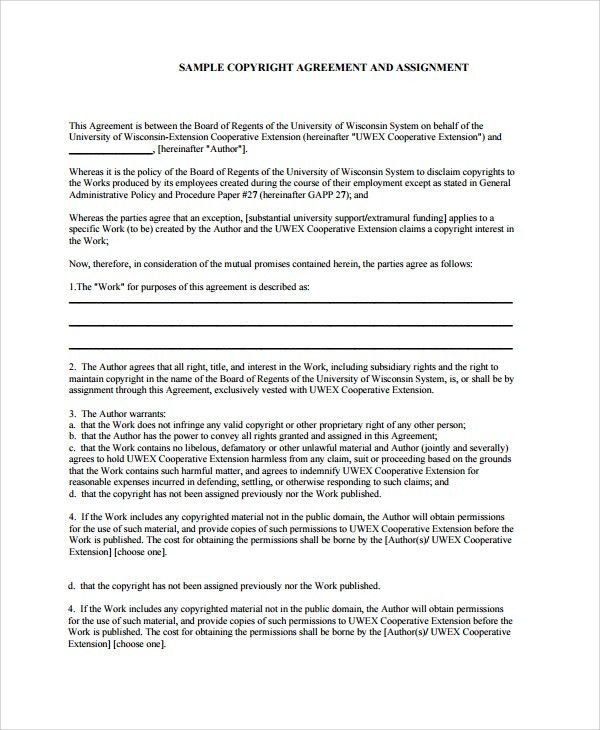 Sample Assignment Agreement Template - 9+ Free Documents Download ...