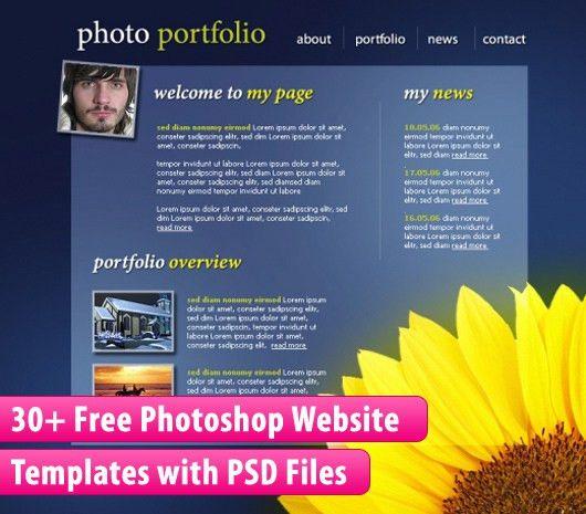 30+ Free Photoshop Website Templates with PSD Files - Dzinepress