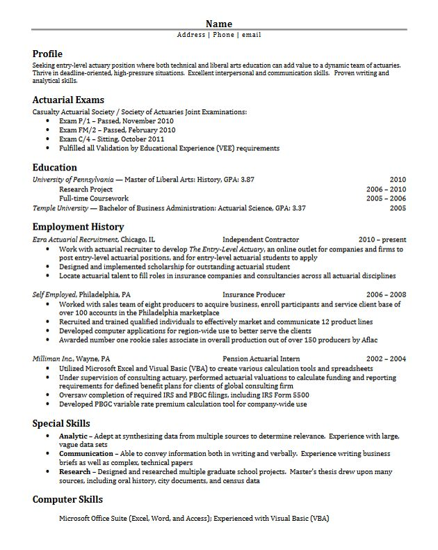Sample resume environmental consultant
