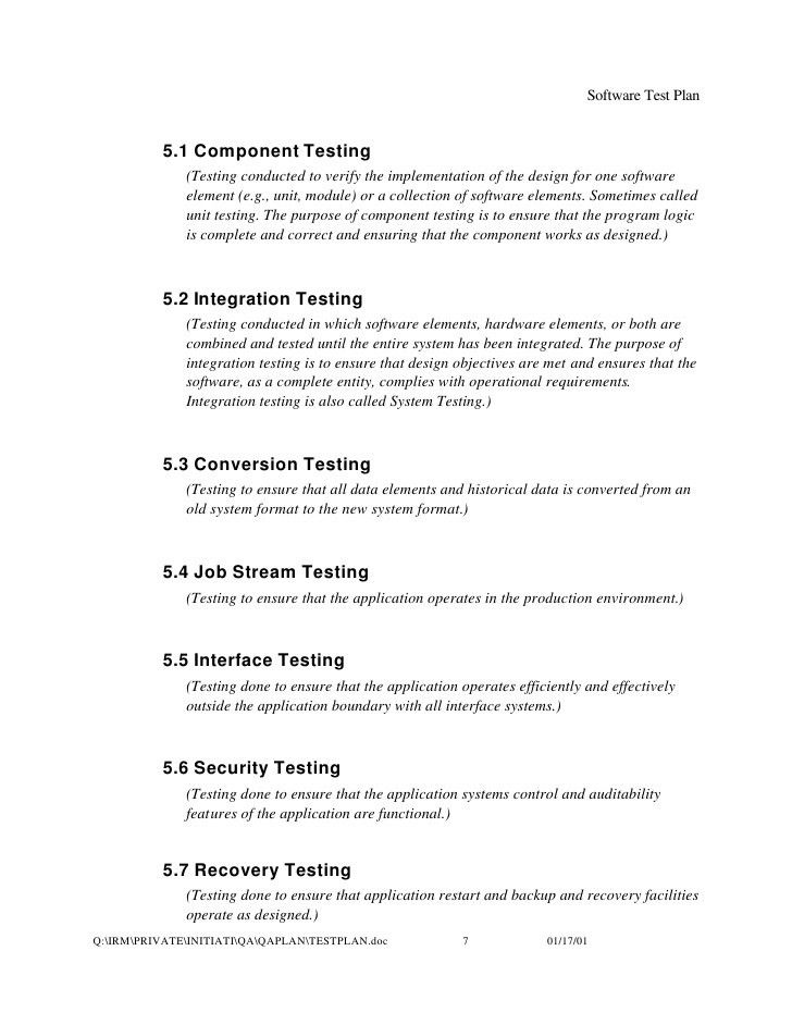 Ieee Test Plan Template