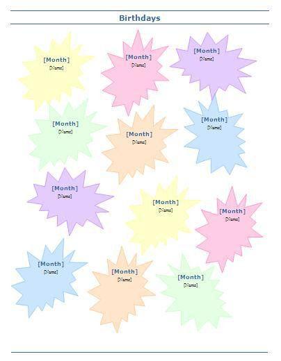 Sample Chart Templates » Birthday Charts Templates - Free Charts ...