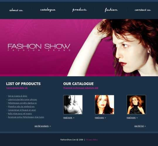 10+ Fresh HTML Fashion Web Templates | WPULTI
